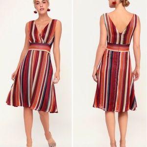 Lulu's • Make My Dreams Come True Striped Dress